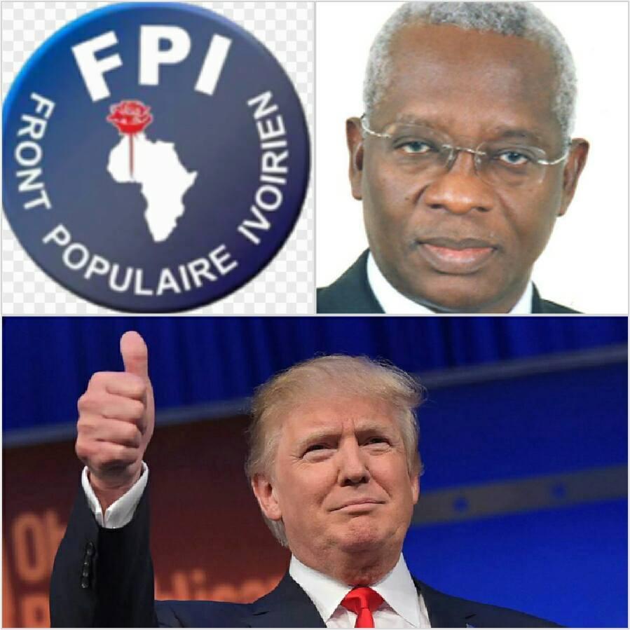 USA-RCI: LES FELICITATIONS DU FPI AU PRESIDENT ELU, MONSIEUR DONALD TRUMP