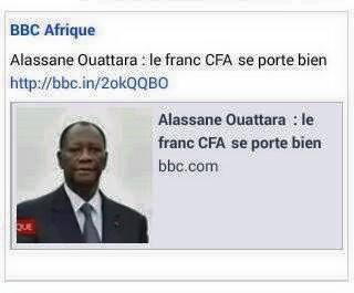 LE FRANC CFA: LE MAL AFRICAIN QU'IL FAUT ATTAQUER.