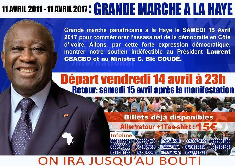 Liberation du President Gbagbo: Marche et soutien Diaspora africaine