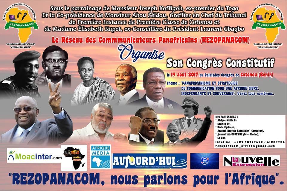 REZOPANACOM: CONGRES CONSTITUTIF LE 19 AOUT 2017 AU PALAIS DES CONGRES DE COTONOU( BENIN)