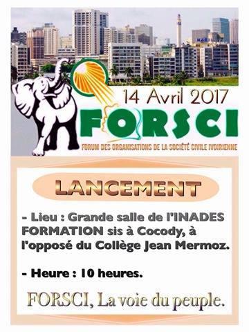 RCI: Société civile, FORSCI arrive ...