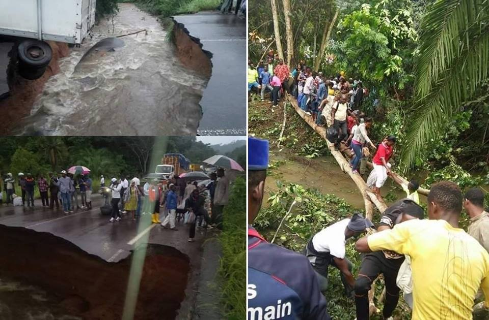 CAMEROUN: Un pont coupé en deux sur l'axe Douala - Yaoundé