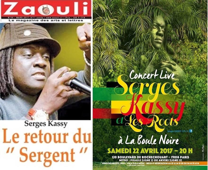 MUSIQUE: CONCERT LIVE de SERGE KASSY 22 AVRIL 2017 A PARIS