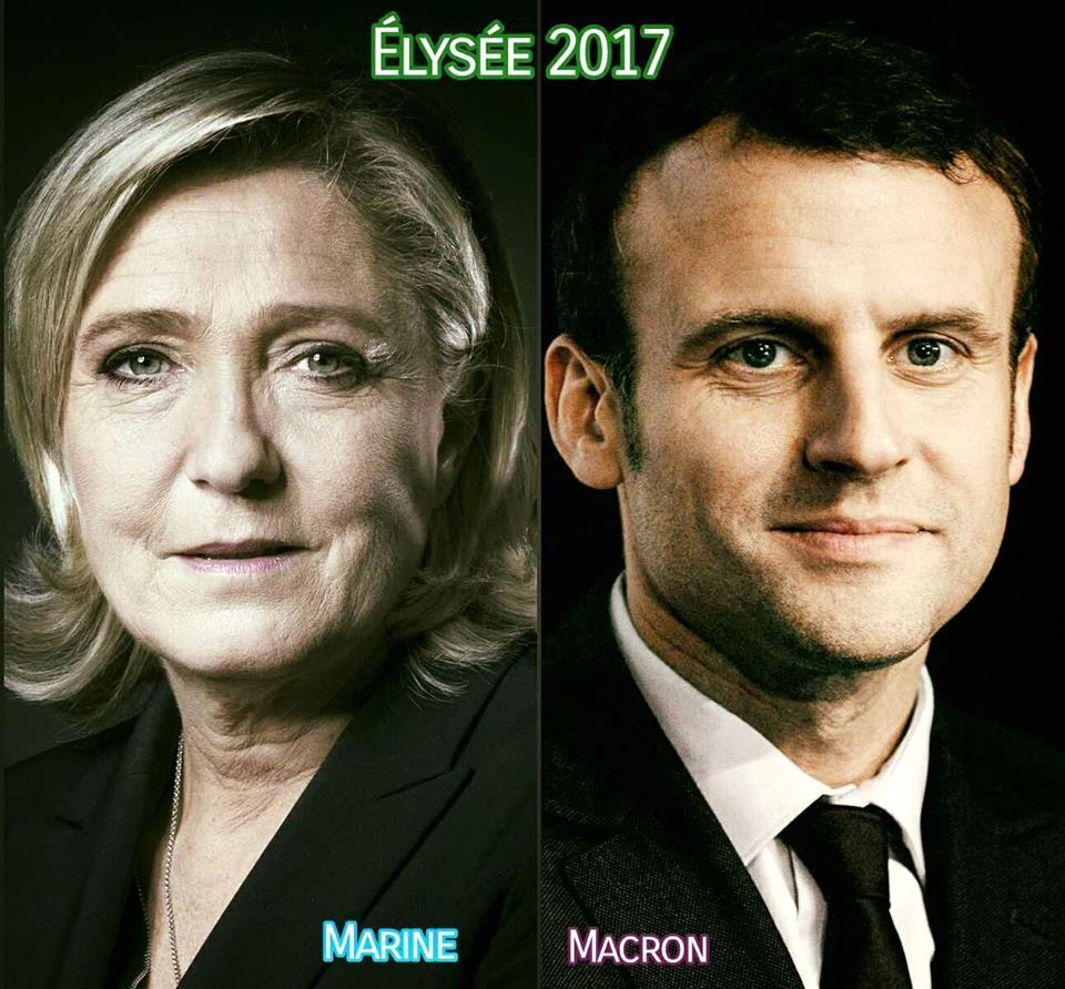 France: Elysée2017 : NOUVEL AFFRONTEMENT DES DEUX BLOCS MONDIAUX. MARINE ou MACRON ? À VOUS DE JOUER...